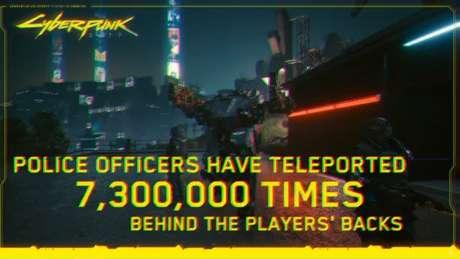 """""""Policiais se teleportaram 7,3 milhões de vezes para as costas dos jogadores"""" é outra piada com bug de Cyberpunk 2077 dizendo"""
