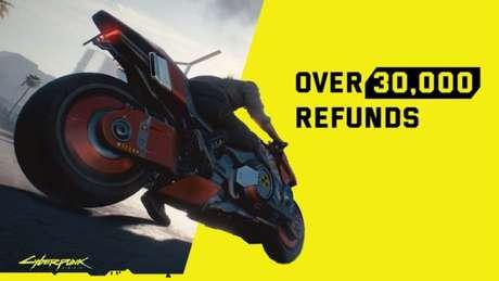 """""""Mais de 30 mil reembolsos"""" é um dos memes com conquistas ruins de Cyberpunk 2077"""