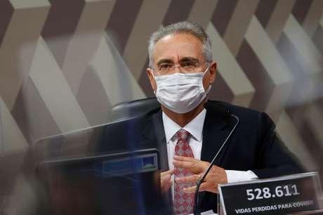 Senador Renan Calheiros durante reunião da CPI da Covid no Senado 08/07/2021 REUTERS/Adriano Machado
