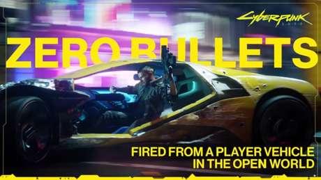 """""""Zero balas atiradas pelos jogadores dentro de carros no mundo aberto"""" faz piada com uma promessa quebrada pela CD Projekt Red"""