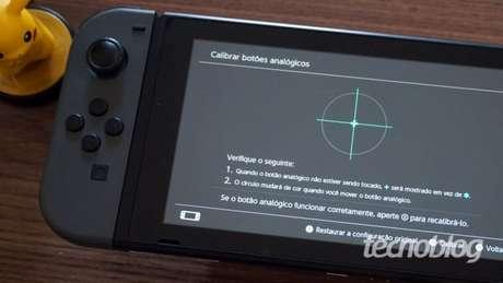 Calibragem dos Joy-Cons do Nintendo Switch