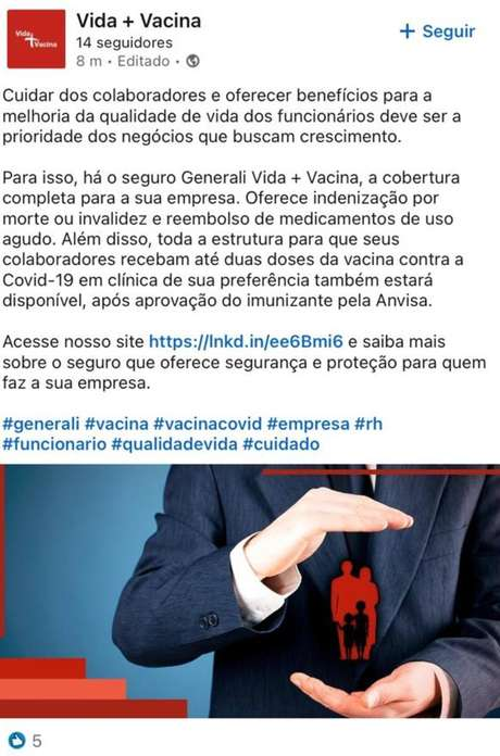 Em parceria com a Precisa Medicamentos, seguradora oferecia