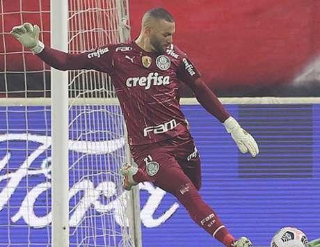 Weverton foi eleito melhor em campo pela Conmebol (Foto: Cesar Greco/Palmeiras)