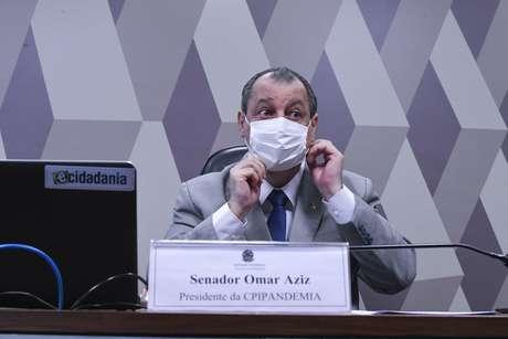 Omar Aziz na CPI da Covid