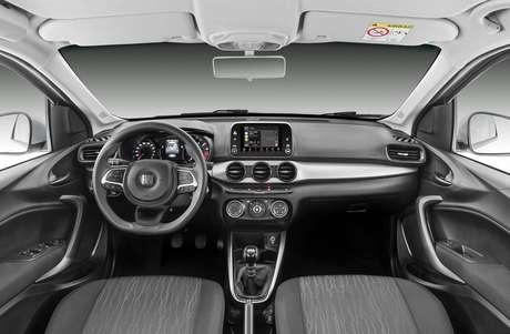 "Fiat Argo Drive 1.0: multimídia Uconnect 7""."