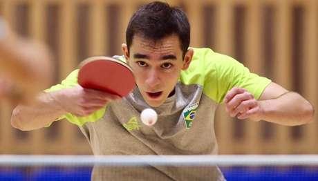 Hugo Calderano é um dos representantes do Brasil no tênis de mesa Gaspar Nóbrega/COB