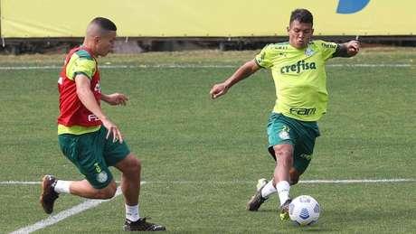 O Palmeiras treinou na Academia de Futebol nessa sexta-feira (16) (Foto: Cesar Greco/Palmeiras)