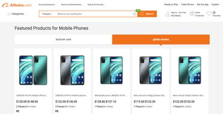 Umidigi A9 Pro e A9 Pro 2021 no Alibaba