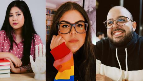 Aya, Karine e Victor, três streamers da nova comunidade, a BookTwitch