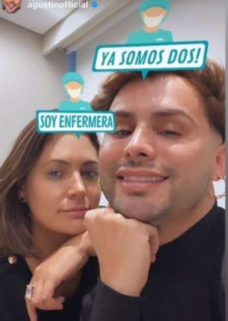 Michelle Bolsonaro e Agustin Fernandez no hospital acompanhando o presidente