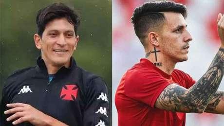 Germán Cano é a esperança de gols do Vasco; Jean Carlos é o maestro do Náutico (Montagem LANCE!)