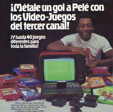 Anúncio do jogo do Pelé para Atari
