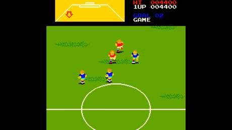Pro Soccer tinha um mini-mapa no topo da tela