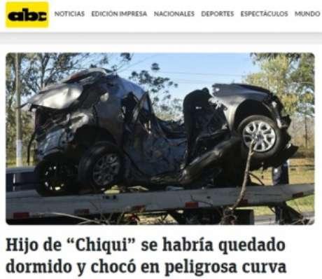 Rede ABC mostra estado do carro após ser retirado do local do acidente (Foto: Reprodução/ABC)