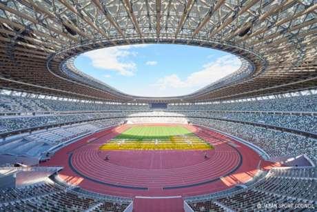 O Estádio Olímpico de Tóquio receberá as cerimônias de abertura e encerramento dos Jogos de 2020 (Crédito: Japan Sport Council)
