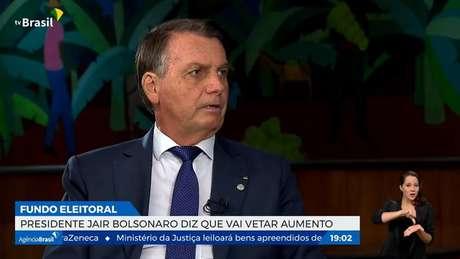 O presidente da República, Jair Bolsonaro, em entrevista.
