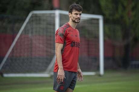 Rodrigo Caio pode reforçar o Flamengo contra o Defensa y Justicia (Foto: Alexandre Vidal/Flamengo)