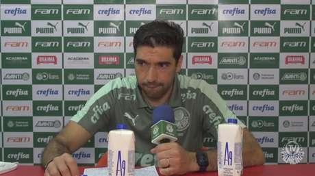 Abel Ferreira chegou a sete vitórias seguidas pelo Palmeiras pela segunda vez (Foto: Reprodução)
