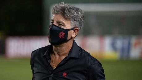 Renato Gaúcho: duas vitórias em dois jogos, além de seis gols marcados (Foto: Alexandre Vidal / Flamengo)