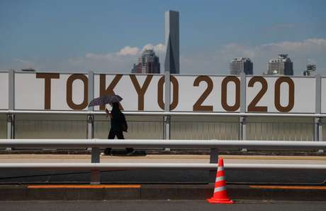 Logo da Tóquio-2020 no Japão 19/07/2021 REUTERS/Thomas Peter