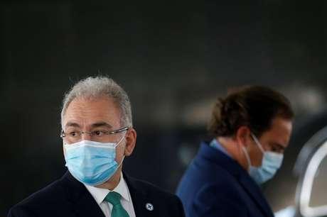 Ministro da Saúde, Marcelo Queiroga, durante entrevista coletiva em Brasília 06/07/2021 REUTERS/Adriano Machado