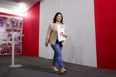 Candidata presidencial peruana Keiko Fujimori concede entrevista coletiva em Lima 19/07/2021 REUTERS/Sebastian Castaneda
