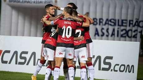 Arrascaeta deu sua primeira assistência nesse Brasileiro (Foto: Alexandre Vidal / Flamengo)