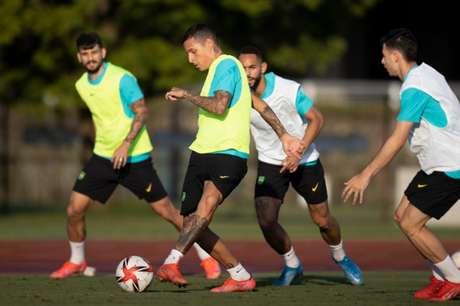 André Jardine faz últimos ajustes antes da estreia da Seleção Brasileira nas Olimpíadas (Foto: Lucas Figueiredo / CBF)