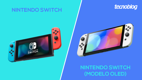Nintendo Switch padrão ou modelo OLED, o que muda?