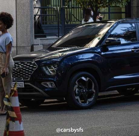 Novo Hyundai Creta foi flagrado sem disfarces em São Paulo.