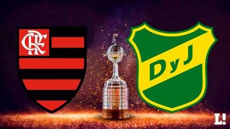 Flamengo recebe o Defensa y Justicia com a vantagem de 1-0 no agregado (Foto: Montagem LANCE!)