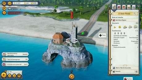 Piratas trazem recursos extras para a ilha