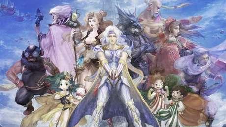 O elenco principal de Final Fantasy IV
