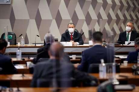 Senadores prticipam de reunião da CPI da Covid em junho 10/06/2021 REUTERS/Adriano Machado