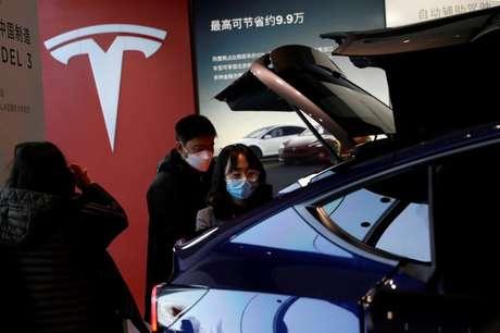 Tesla Model Y fotografado em Pequim, China  05/01/2021 REUTERS/Tingshu Wang
