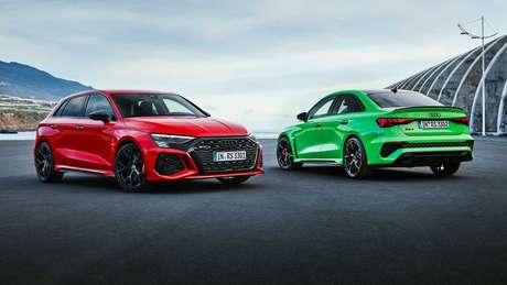 Novo Audi RS3 está disponível nas carrocerias hatch e sedã.