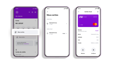 """App do Nubank ganha botão """"Meus Cartões"""" na tela inicial"""