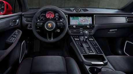 Porsche Macan: novo console central com comandos sensíveis ao toque.