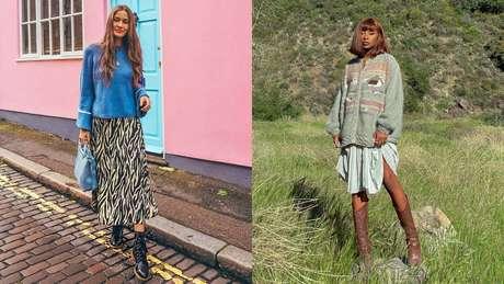 Veja como compor looks quentinhos e estilosos com saia!