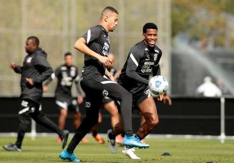 Corinthians fez mais um treino nesta quarta-feira de olho no Cuiabá (Foto: Rodrigo Coca/Ag. Corinthians)