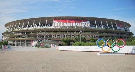 Vista do Estádio Olímpico de Tóquio 20/07/2021 Michael Kappeler/REUTERS