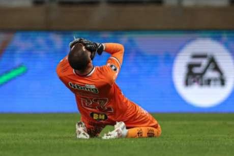Everson teve uma noite de quase vilão, para ser o herói do Galo na passagem às quartas de final da Libertadores-(Pedro Souza/Atlético-MG)