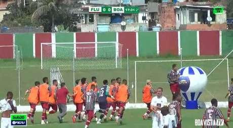Fluminense venceu o Boavista no Carioca Sub-20 nesta quarta-feira (Foto: Reprodução)