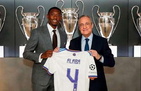 Alaba irá vestir a camisa de número quatro no Real Madrid (Foto: Reprodução/realmadrid)