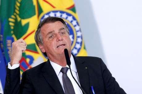 Presidente Jair Bolsonaro durante cerimônia no Palácio do Planalto 13/07/2021 REUTERS/Adriano Machado