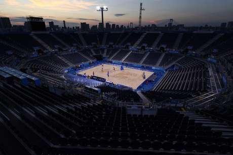 Arena de vôlei de praia dos Jogos de Tóquio 19/07/2021 REUTERS/Edgar Su