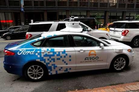 Veículo autônomo Ford da Argo AI em Nova York, EUA  12/07/2019 REUTERS/Mike Segar