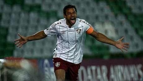 Fred comemora gol pelo Fluminense na Libertadores (Foto: Lucas Merçon/Fluminense FC)