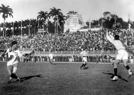 Laranjeiras foi a casa da Seleção Brasileira por 17 anos (Foto: Acervo/Flu-Memoria)
