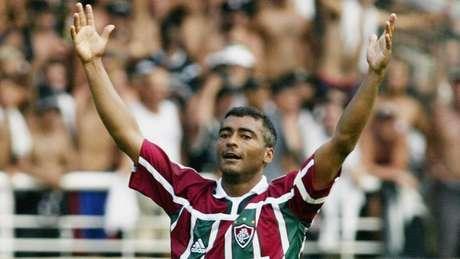 Romário esteve no Fluminense entre 2002 e 2004 (Foto: Reprodução)